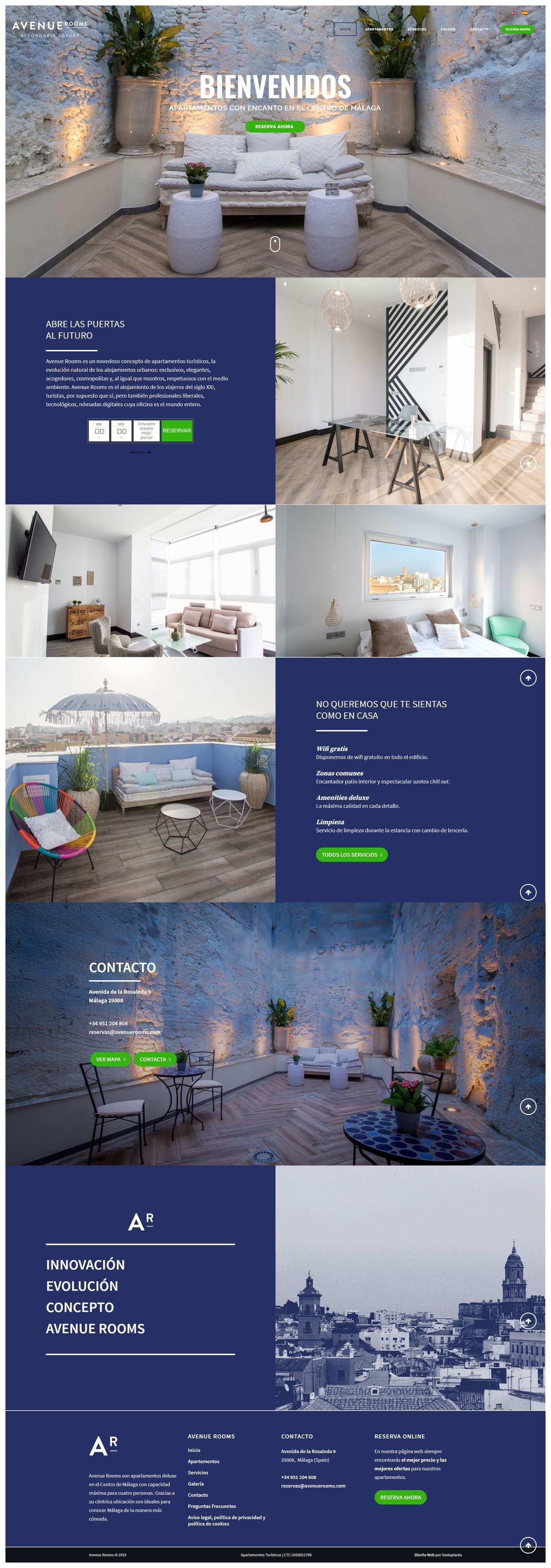 Diseño Web Hotel Cortijo San Antonio