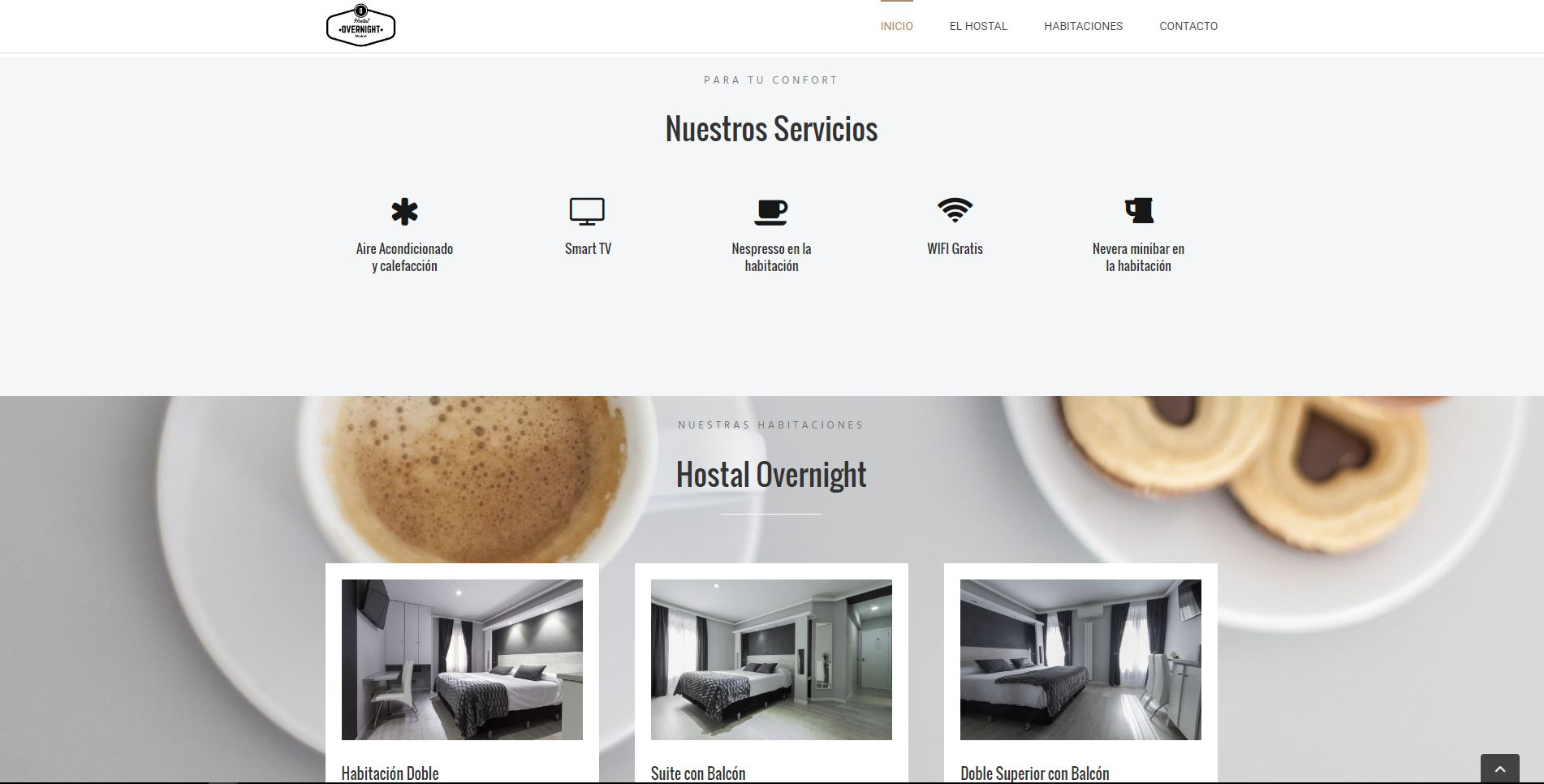 Diseño Web Hostal Overnight