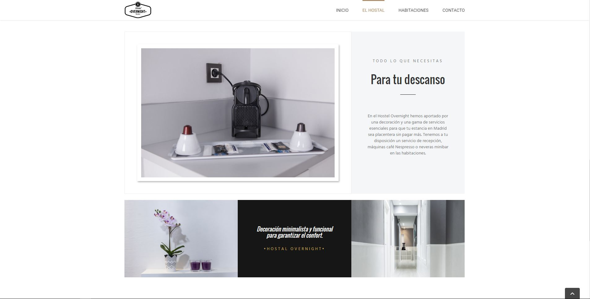Diseño Web del Hostal Overnight