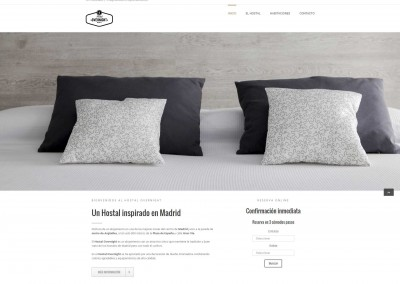 Web de Hostal Overnight