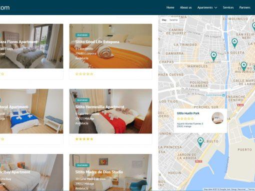 Diseño web con motor de reservas de Apartamentos Sitito
