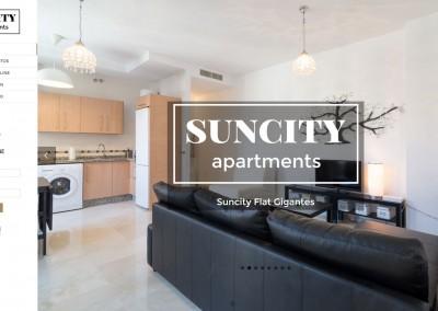 Web de Apartamentos Suncity