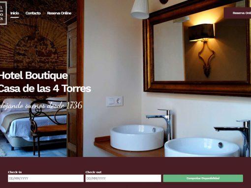 Diseño web con motor de reservas Hotel Casa de las Cuatro Torres
