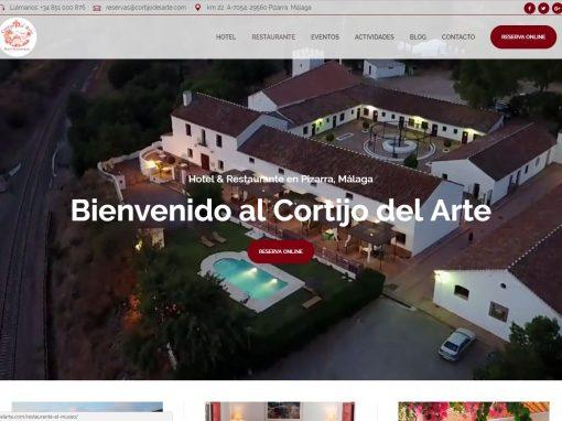 Diseño web con motor de reservas de Hotel Cortijo del Arte
