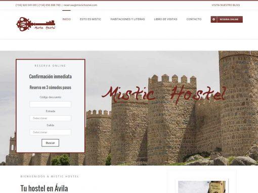 Web de Mistic Hostel