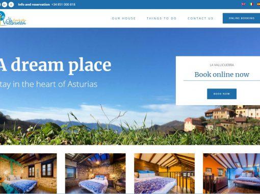 Diseño Web con motor de reservas de las Casas de Aldea, La Vallicuerra