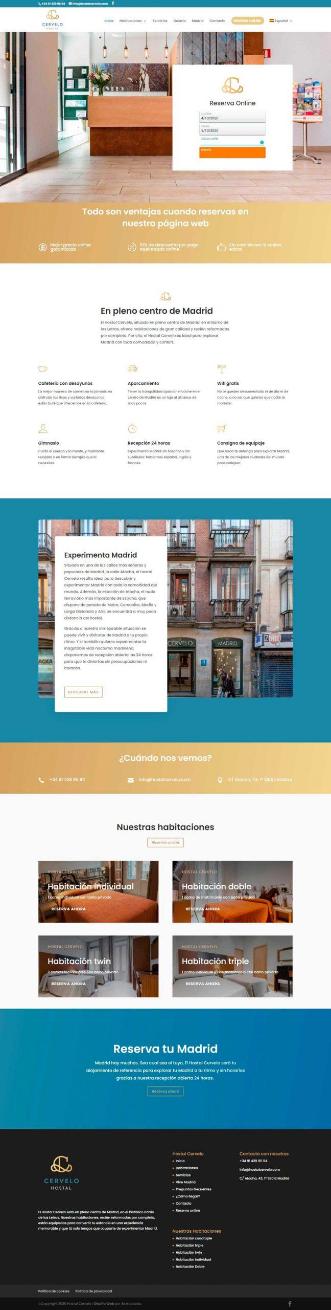 Diseño Web Apartamentos turísticos Sitito