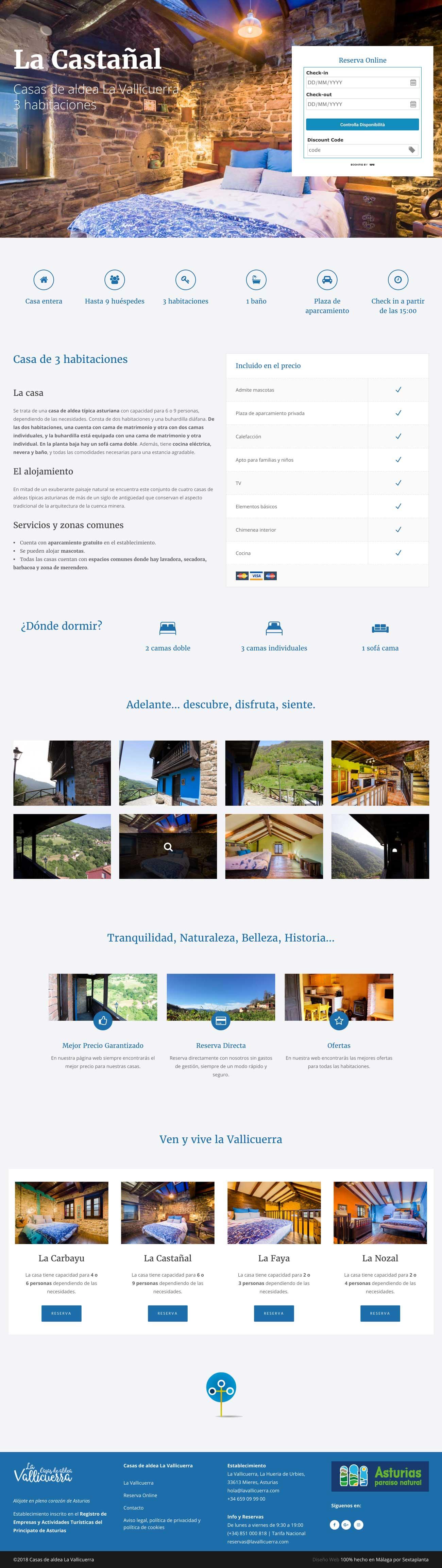 Diseño Web Casas de aldea La Vallicuerra