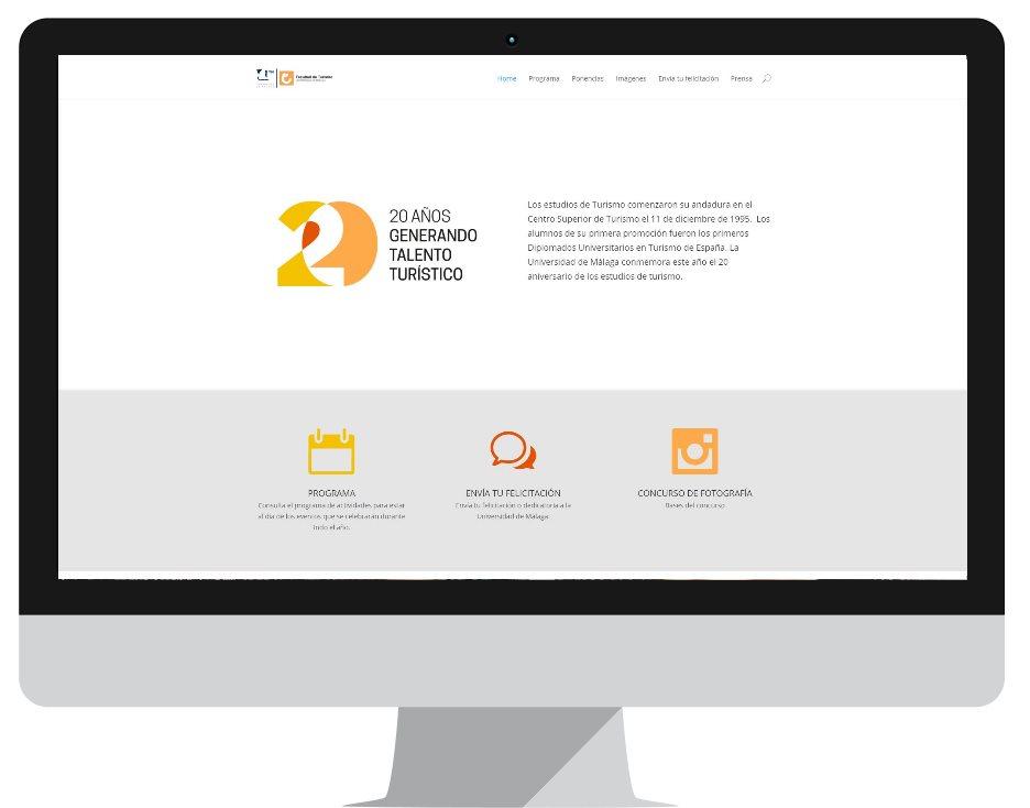 Web Aniversario de Turismo de Málaga