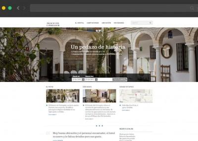 Web Hostal Palacio del Corregidor